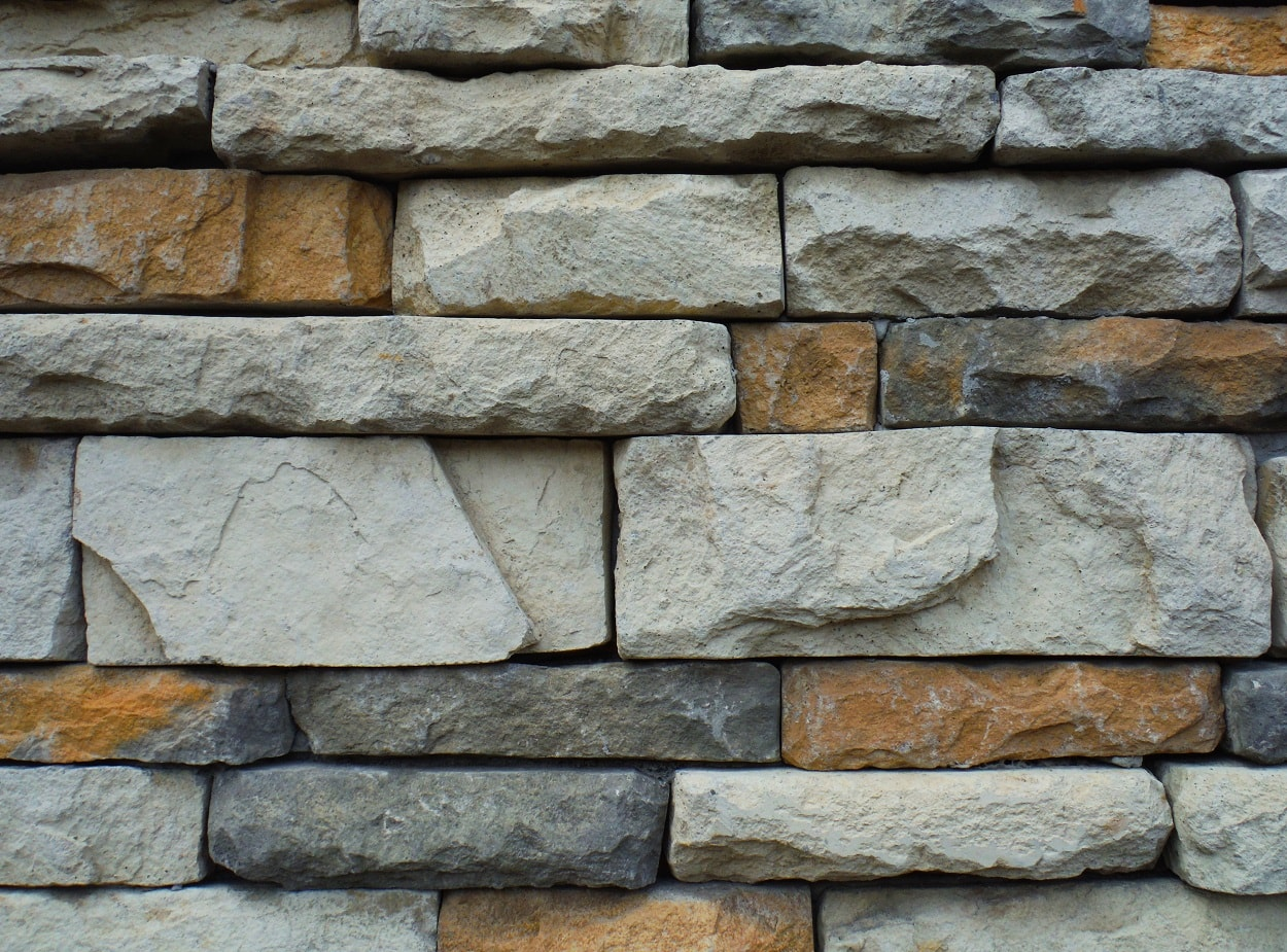 Stone work create a unique feel and focu