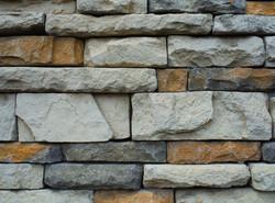 Stone work create a unique feel and focu