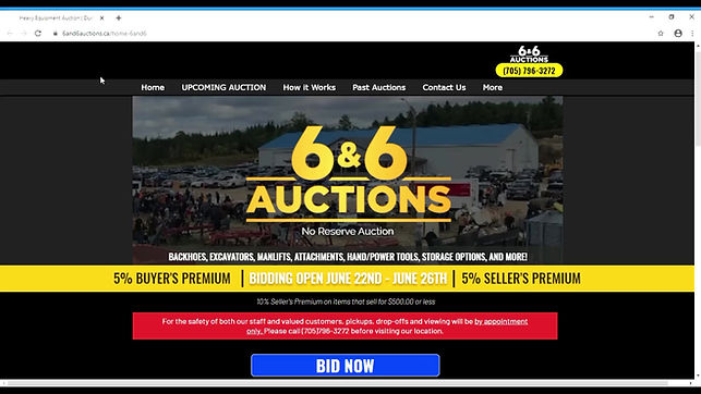 How to register for online bidding with 6&6 auctions.
