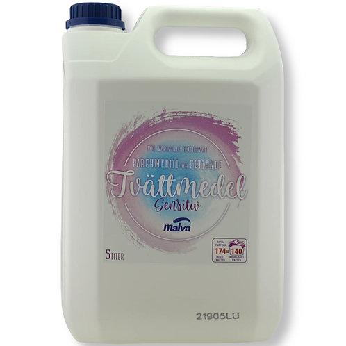 Flytande Tvättmedel Sensitiv oparfymerat MALVA 5 liter