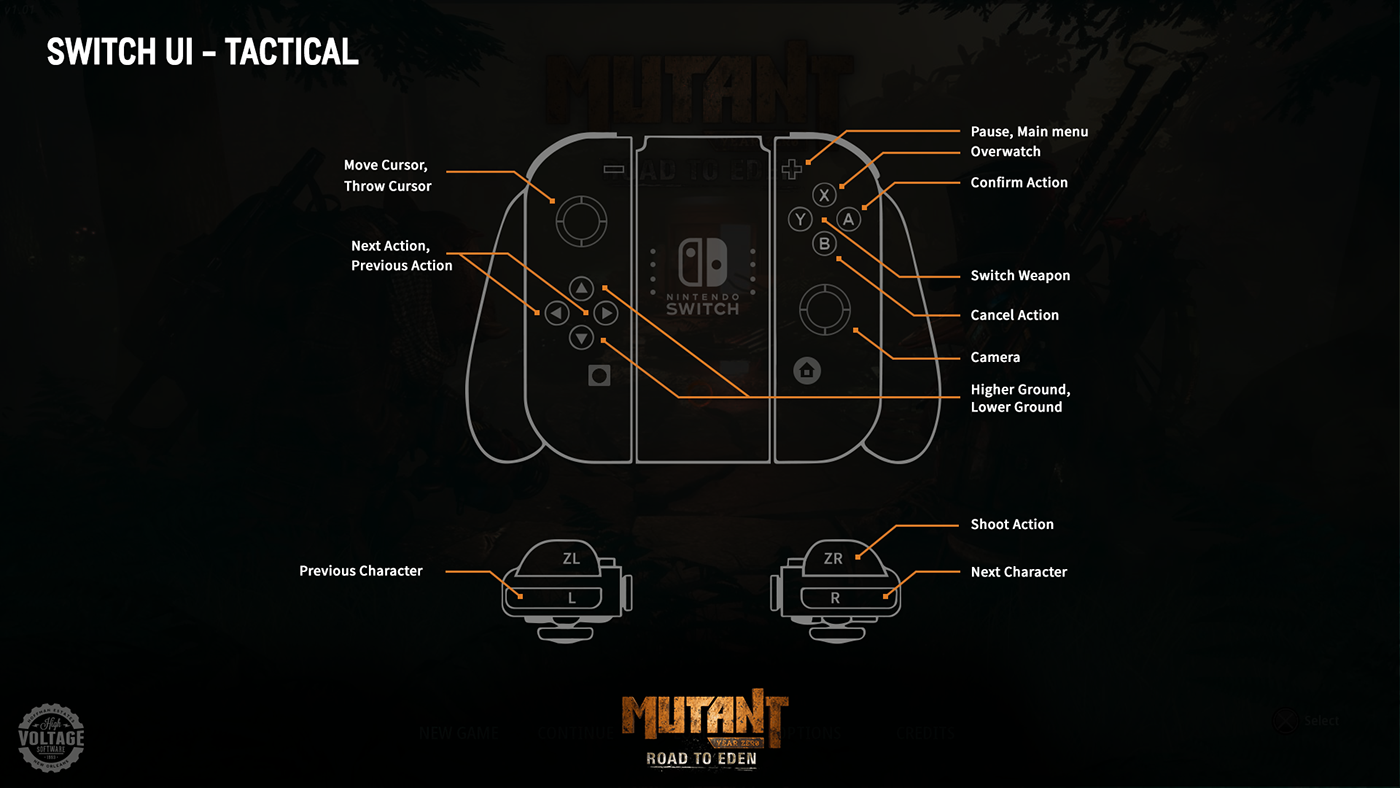 Controller Map: Tactical