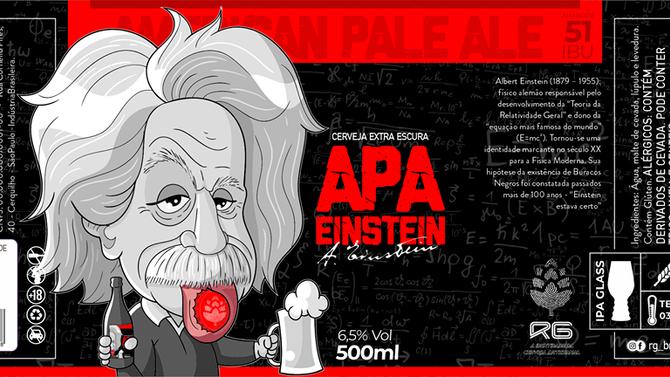 Rótulo de Cerveja - Cervejaria RG - APA Einstein