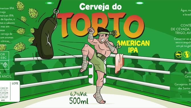 Rótulo de Cerveja - Cerveja do Torto American IPA