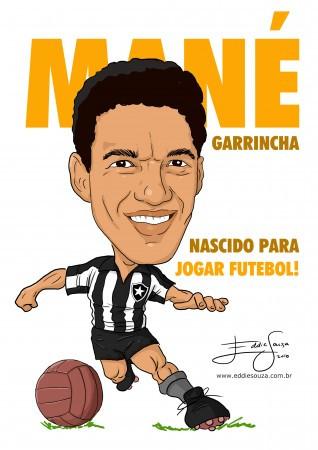 30 anos sem Mané - Caricatura Garrincha