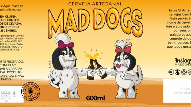 Rótulo de Cerveja - Mad Dogs