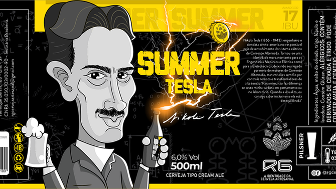 Rótulo de Cerveja - RG - Summer Tesla
