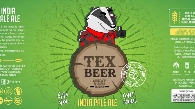 Rótulo de cerveja - TexBeer