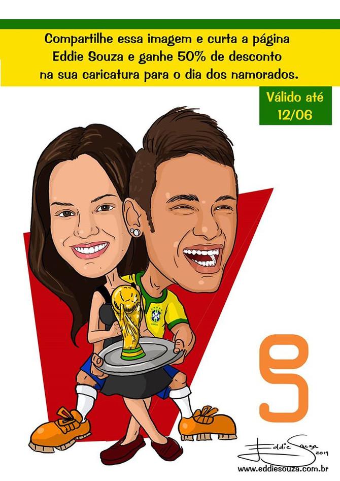 Caricatura Copa Parte 1 -Neymar e Bruna