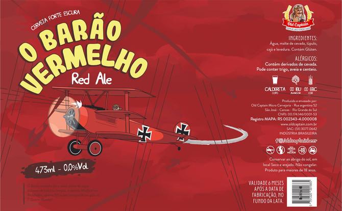 Rótulo de Cerveja - Old Captain - Barão Vermelho