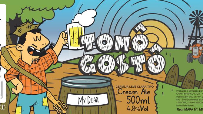 Rótulo de cerveja - My Dear - Tomô Gostô