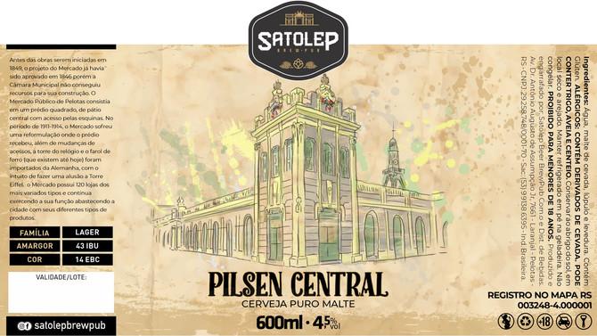 Rótulo de Cerveja - Salotep - Pilsen Central