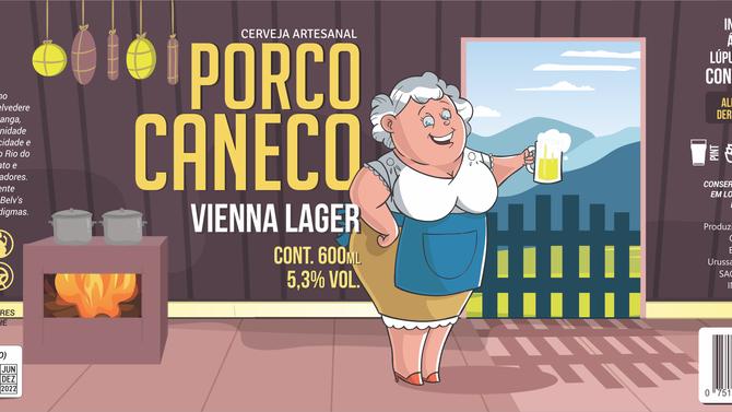 Rótulo de Cerveja - Porco Caneco