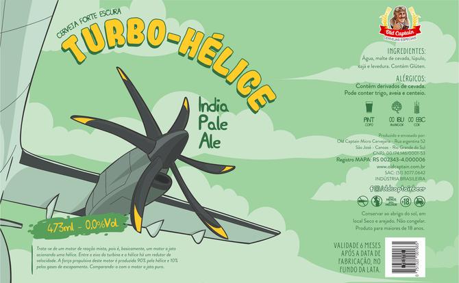 Rótulo de Cerveja - Old Captain - Turbo-hélice