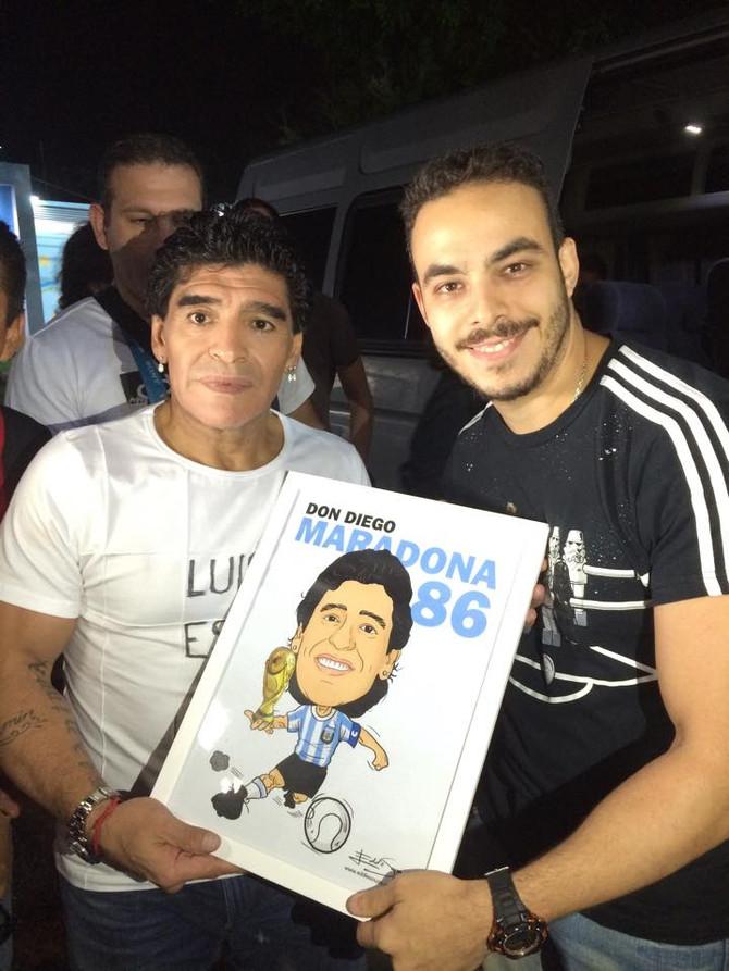 Caricatura Copa Parte 5 - Maradona