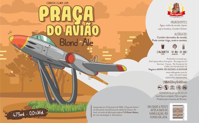 Rótulo de Cerveja - Old Captain - Praça do avião