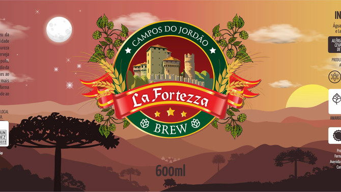 Rótulo de Cerveja - La Fortezza Brew