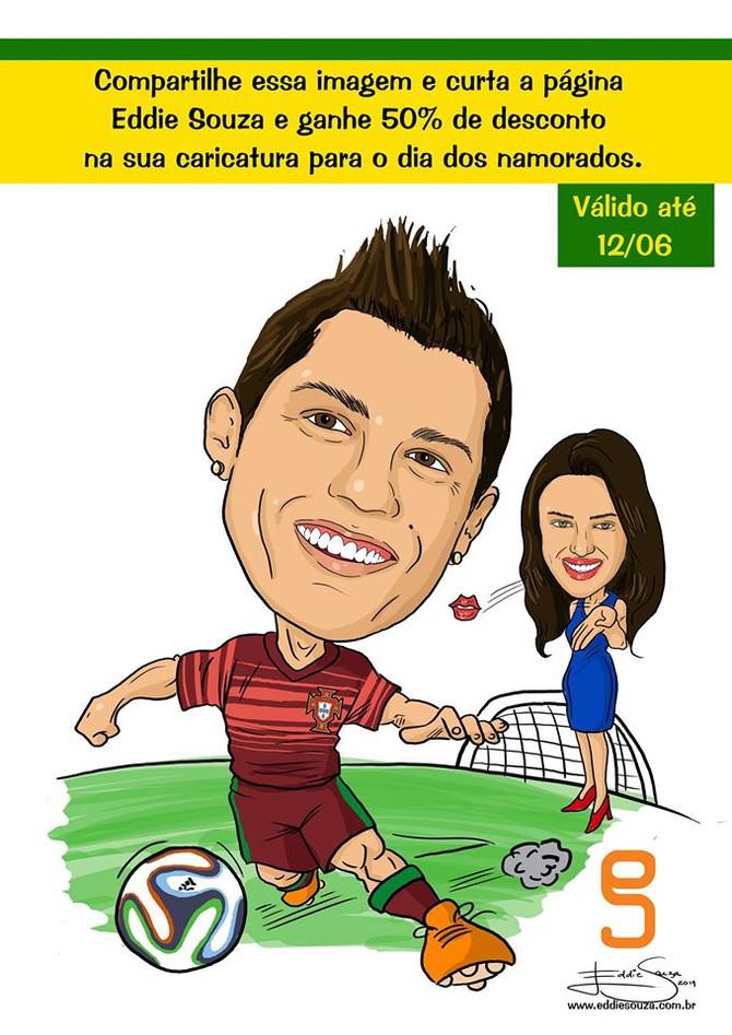 Caricatura Copa Parte 2 - Cristiano Ronaldo e Irina Shayk