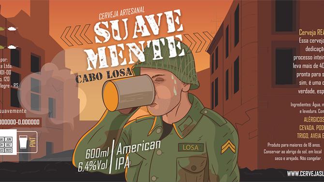 Rótulo de Cerveja - Suave Mente - Cabo Losa