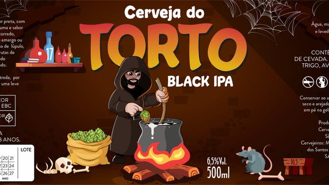 Rótulo de Cerveja- Cerveja do Torto - Black IPA