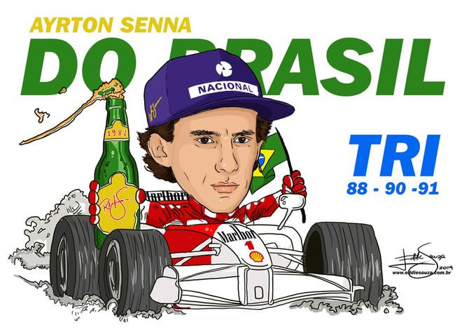 Caricatura Ayrton Senna