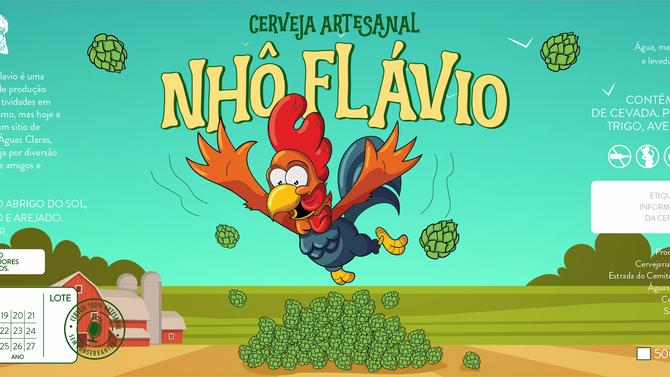 Rótulo de Cerveja - Nhô Flávio