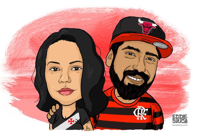 Caricatura Marco e Thalita