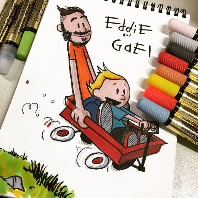 Eddie and Gael - Calvin and Hobbes