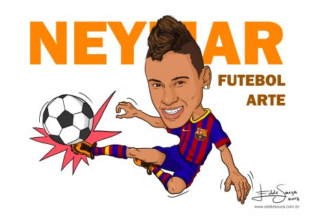 Caricatura Neymar