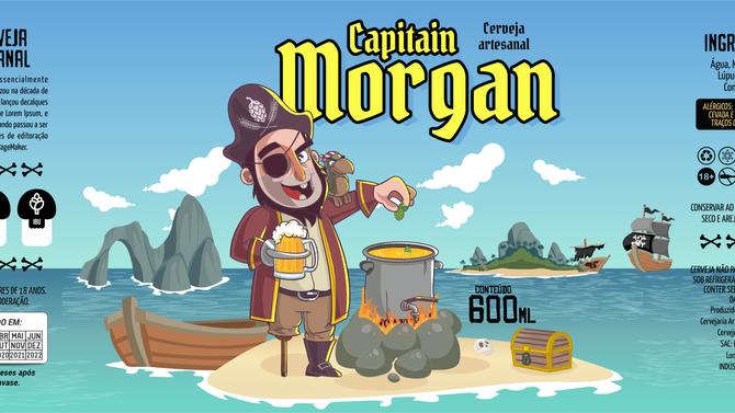 Rótulo de Cerveja - Capitain Morgan