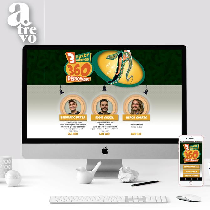 Site 3 ilustradores 360 personagens