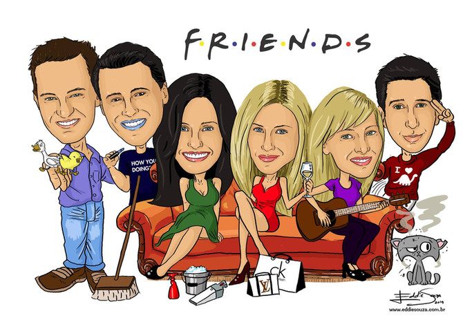 Caricatura Friends
