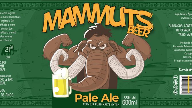 Rótulo de cerveja - Mammuts Beer