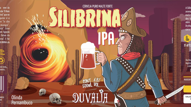 Rótulo de Cerveja - Silibrina -IPA