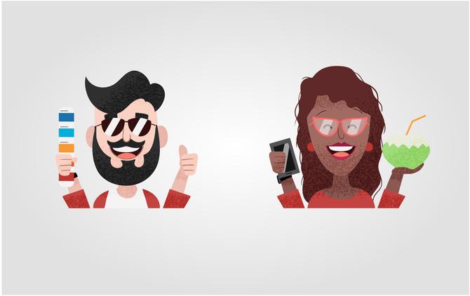 Ilustrações para Comunicação Visual - Ziriguidum