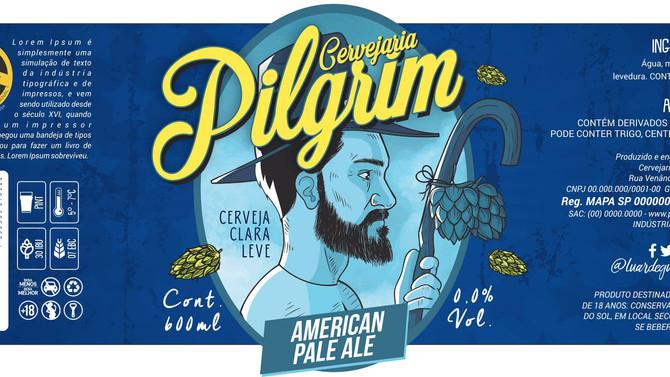 Rótulo de Cerveja - Pilgrim
