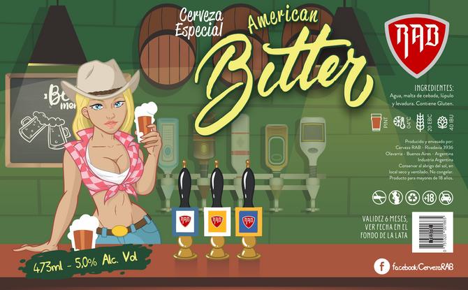 Rótulo de Cerveja - Cerveza RAB - American Bitter