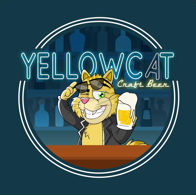 Rótulo de Cerveja - Yellowcat