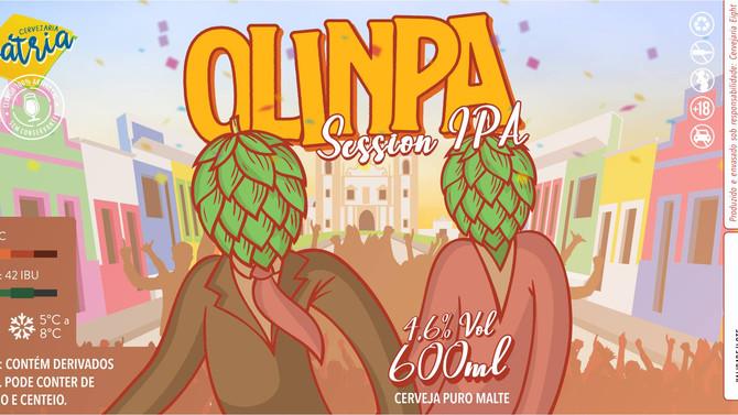 Rótulo de Cerveja - Cervejaria Pátria - Olinpa