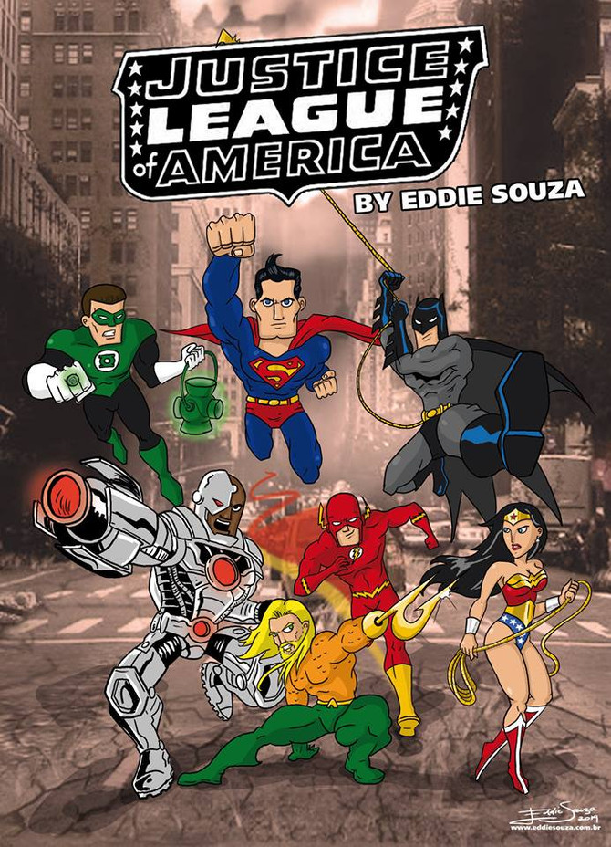 Liga da Justiça da América by Eddie Souza