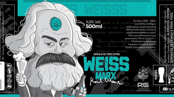 Rótulo de Cerveja - RG - Weiss Marx