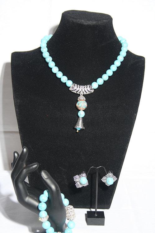 Blu jewellery set