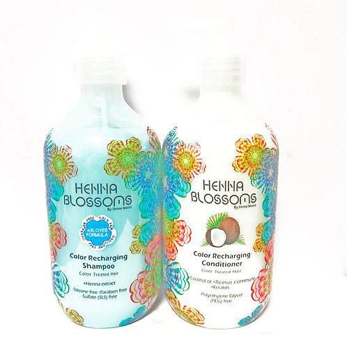 Henna Blossoms 護色洗髮水 & 椰油護髮素組合