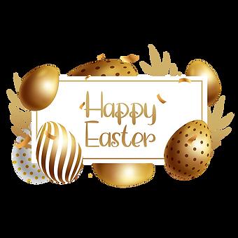 —Pngtree—easter golden egg border_601750