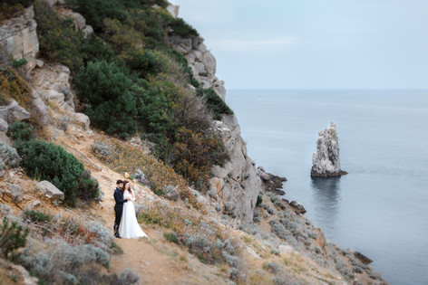 Свадьба в Ялте, фотограф в Крыму, фотосессия у моря