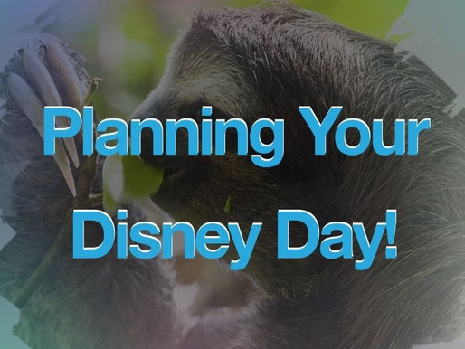 Planning your Disney Day