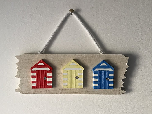 Driftwood Beach Hut Wall Hanging - Primary