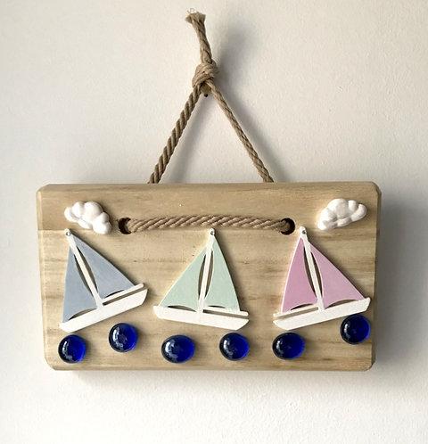 Sailing Boat Wall Hanging - Pastel