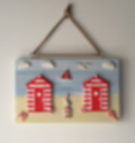 New red 2 beach hut plaque.JPG
