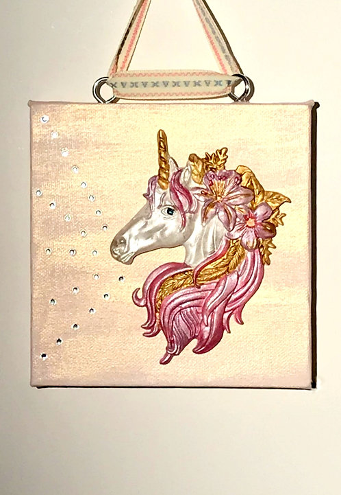 Gloriana the Unicorn Wall Hanging Canvas