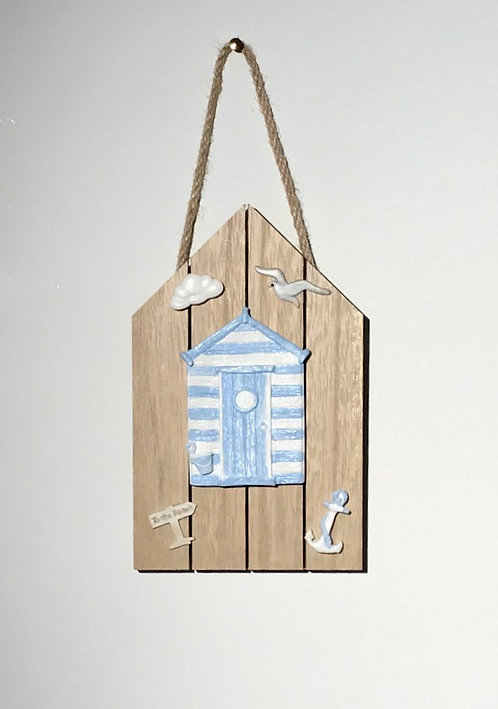 Wooden Beach Hut Wall Hanging